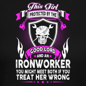 This Girl Is Protected By Ironworker - Women's Long Sleeve Jersey T-Shirt
