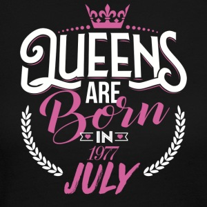 Queens are born in JULY 1977 - Women's Long Sleeve Jersey T-Shirt