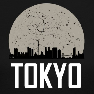 Tokyo Full Moon Skyline - Women's Long Sleeve Jersey T-Shirt