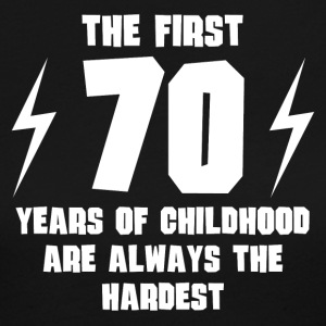 The First 70 Years Of Childhood - Women's Long Sleeve Jersey T-Shirt