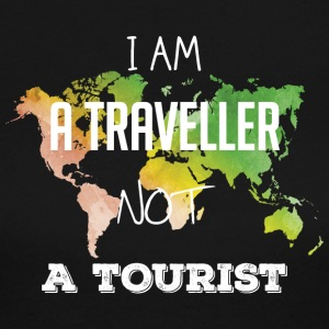 I am a traveller not a tourist - Women's Long Sleeve Jersey T-Shirt