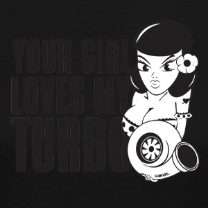 you girl loves my turbo - Women's Long Sleeve Jersey T-Shirt
