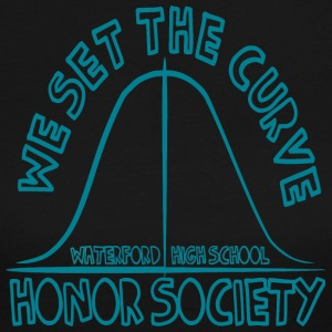 WE SET THE CURVE WATERFORD HIGH SCHOOL HONOR SOCIE - Women's Long Sleeve Jersey T-Shirt