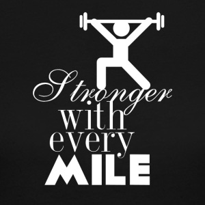 Stronger with every mile - Women's Long Sleeve Jersey T-Shirt