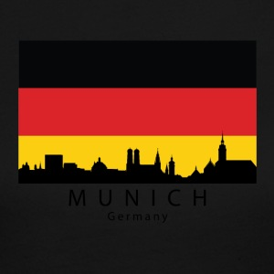 Munich Germany Skyline German Flag - Women's Long Sleeve Jersey T-Shirt