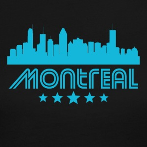 Retro Montreal Skyline - Women's Long Sleeve Jersey T-Shirt