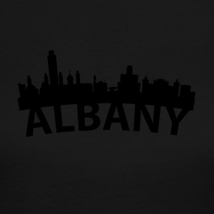 Arc Skyline Of Albany NY - Women's Long Sleeve Jersey T-Shirt