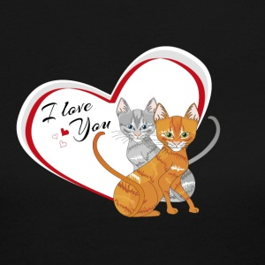 cat in love - Women's Long Sleeve Jersey T-Shirt