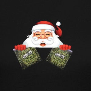 Santa with marijuana gifts - Women's Long Sleeve Jersey T-Shirt