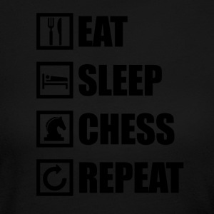 EAT SLEEP CHESS REPEAT - Women's Long Sleeve Jersey T-Shirt