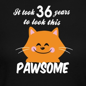 It took 36 years to look this pawsome - Women's Long Sleeve Jersey T-Shirt