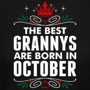 The Best Grannys Are Born In October - Women's Long Sleeve Jersey T-Shirt