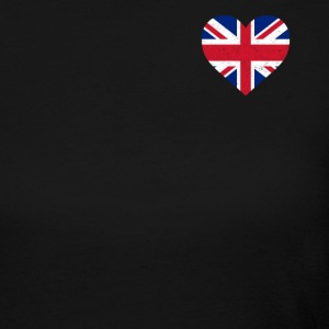 UK Flag Shirt Heart - Brittish Shirt - Women's Long Sleeve Jersey T-Shirt