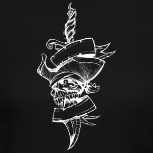 Knife_with_pirate_skull_white - Women's Long Sleeve Jersey T-Shirt