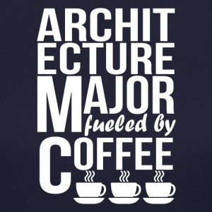 Architecture Major Fueled By Coffee - Women's Long Sleeve Jersey T-Shirt