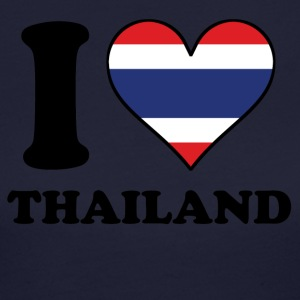 I Love Thailand Thai Flag Heart - Women's Long Sleeve Jersey T-Shirt
