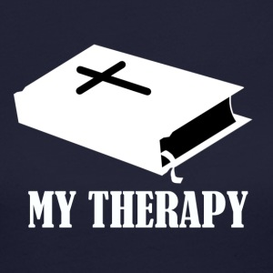 Reading the Bible is my therapy - Women's Long Sleeve Jersey T-Shirt