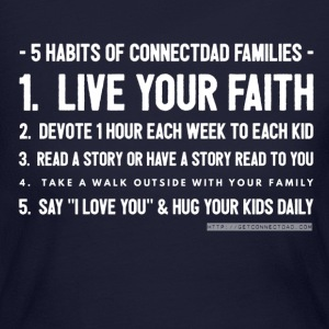 5 Habits of ConnectDAD Families - White - Women's Long Sleeve Jersey T-Shirt