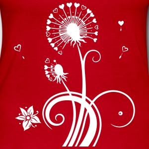 Dandelion with hearts. - Women's Long Sleeve Jersey T-Shirt