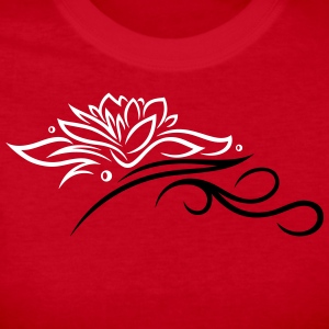 Large lotus flower with small tribal. - Women's Long Sleeve Jersey T-Shirt