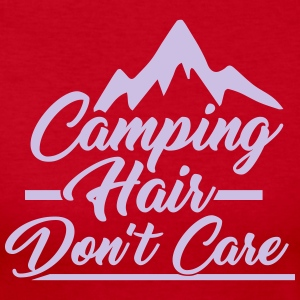Camping Hair Don't Care for Outdoor Campers - Women's Long Sleeve Jersey T-Shirt
