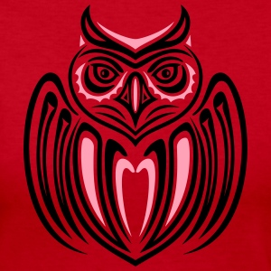 Large owl with wings in Haida Style. - Women's Long Sleeve Jersey T-Shirt