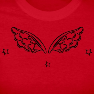 Angel wings with stars, christmas - Women's Long Sleeve Jersey T-Shirt