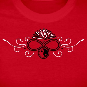 Lotus with infinity and Yin & Yang - Women's Long Sleeve Jersey T-Shirt