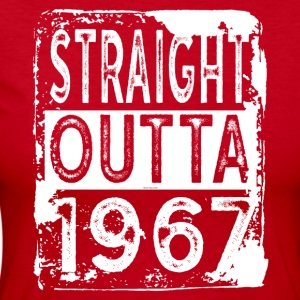 Funny 50th Birthday Gift: Straight Outta 1967 - Women's Long Sleeve Jersey T-Shirt