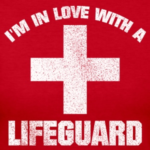 IN LOVE WITH A LIFEGUARD VINTAGE GRUNGE LOOK SHIRT - Women's Long Sleeve Jersey T-Shirt
