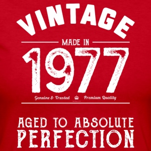 Funny 40th Birthday Present Vintage Made in 1977 - Women's Long Sleeve Jersey T-Shirt