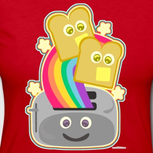 Fun Happy Kawaii Rainbow Toast - Women's Long Sleeve Jersey T-Shirt