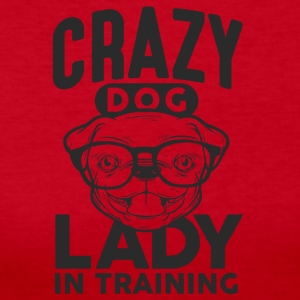 Crazy Dog lady shirt - Women's Long Sleeve Jersey T-Shirt