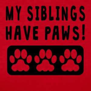 My Siblings Have Paws - Women's Long Sleeve Jersey T-Shirt