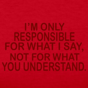 responsible for what i say - Women's Long Sleeve Jersey T-Shirt