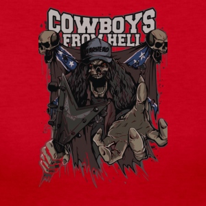 Skull Cowboys from Hell Cyber System - Women's Long Sleeve Jersey T-Shirt