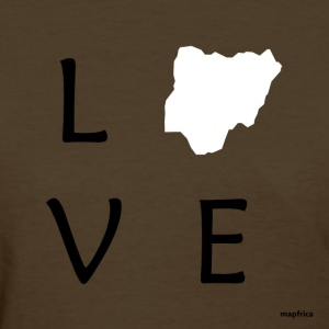 Love Nigeria (White Map) - Women's T-Shirt