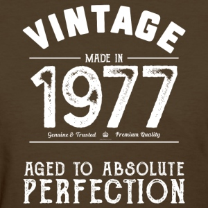 Funny 40th Birthday Present Vintage Made in 1977 - Women's T-Shirt