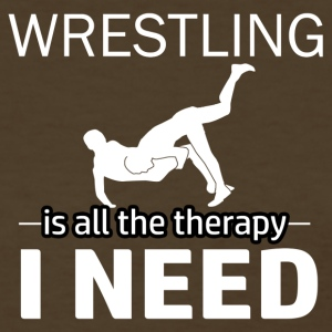 Wresting is my therapy - Women's T-Shirt