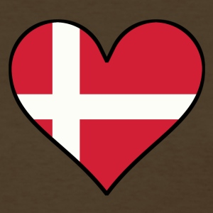 Danish Flag Heart - Women's T-Shirt