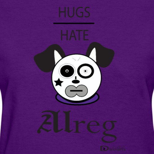 Alreg Adventure Dog Hugs over Hate - Women's T-Shirt