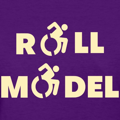 Roll model in a wheelchair, sexy wheelchair user - Women's T-Shirt