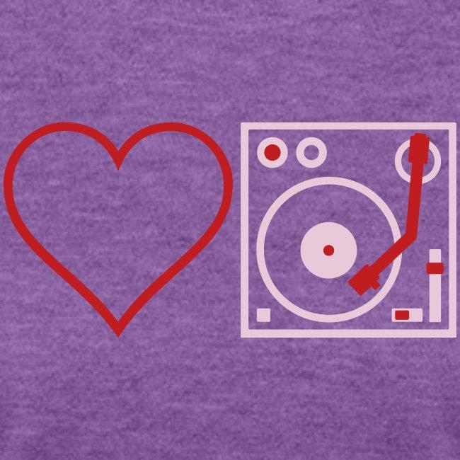 I DJ LOVE THE DJ HEART DJ unique Idea Desi