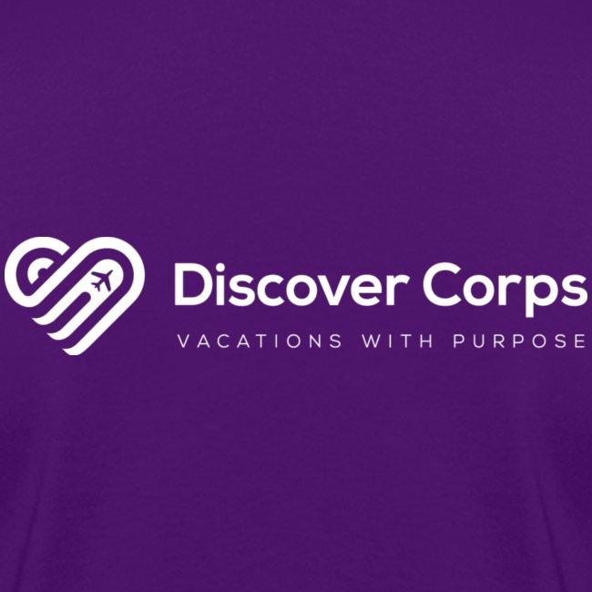 DiscoverCorp Logo Horizontal Rev High white