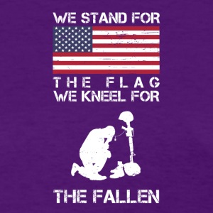 We Stand For The Flag We Kneel For The Fallen Shir - Women's T-Shirt
