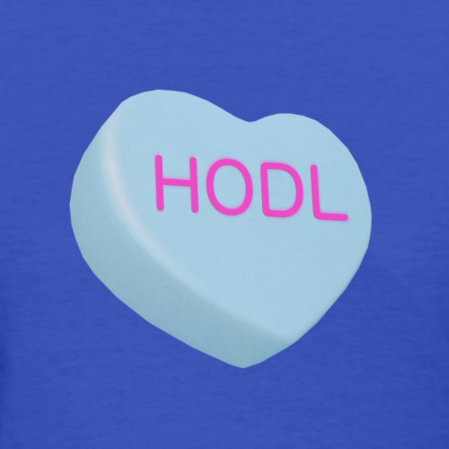 HODL - Hold on For Dear Life - Candy Heart - blue - Women's T-Shirt