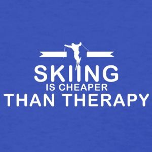 Skiing is cheaper than therapy - Women's T-Shirt