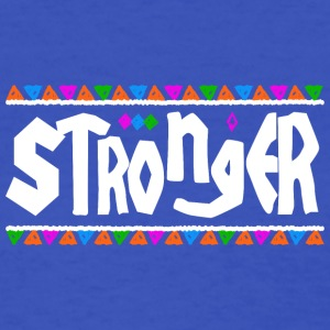 Stronger - Tribal Design (White Letters) - Women's T-Shirt
