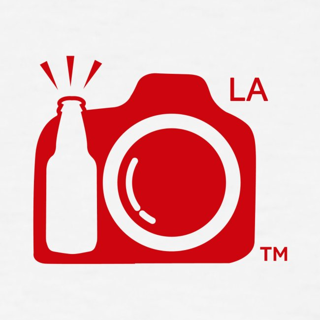 Los Angeles Transparent With Initials RED png