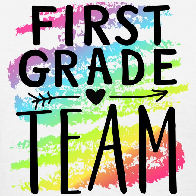 First Grade Team Crayon Splash Teacher T-Shirts